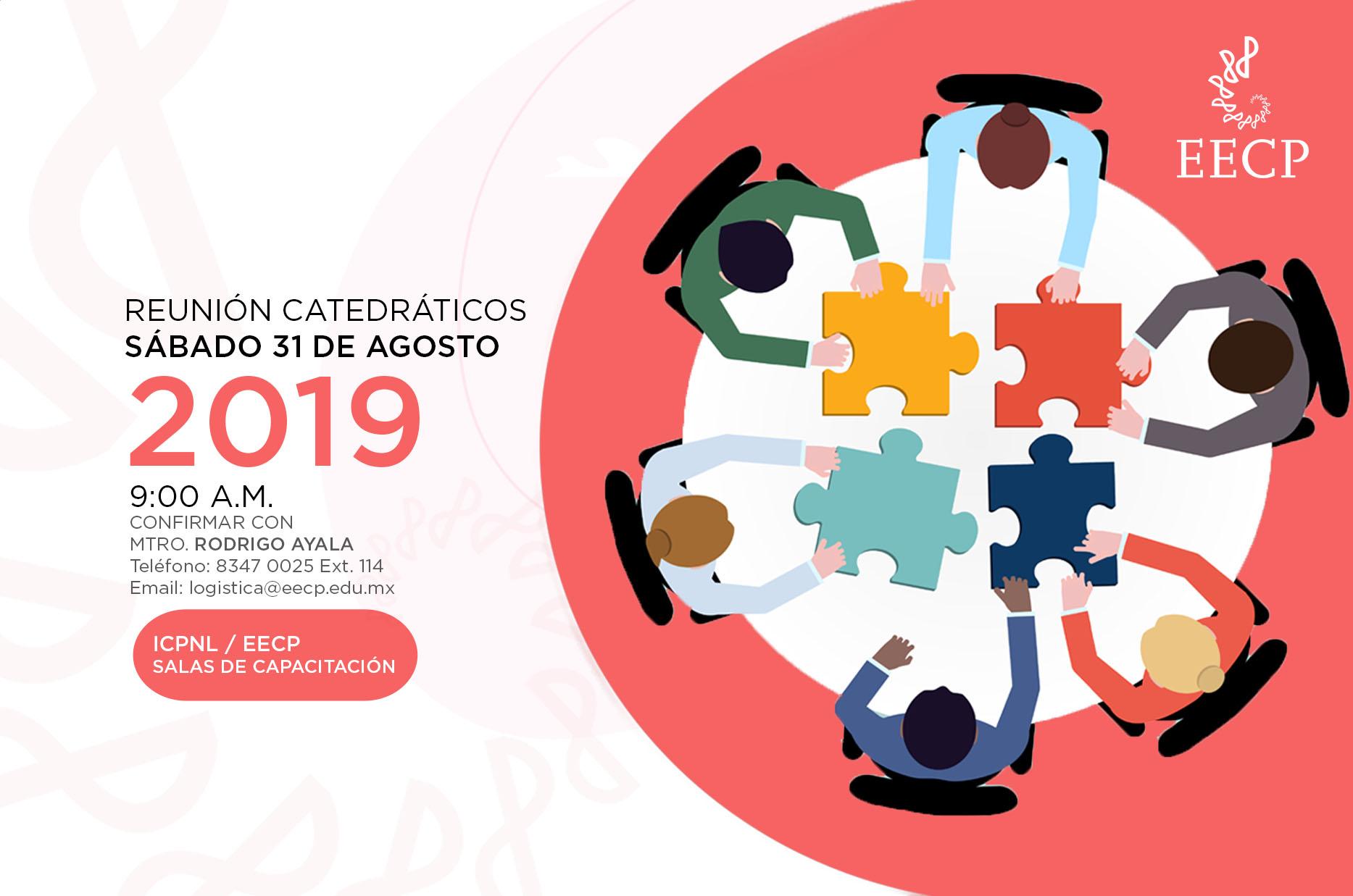 Junta Con Catedráticos 31 De Agosto 2019